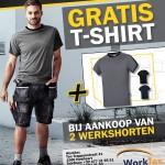 Worktex - Gratis T-shirt bij aankoop van 2 shorten - 29032016